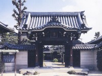 The gate of Kikusen-ji Temple, Nagoya, Japan